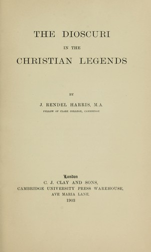 Download The Dioscuri in the Christian legends
