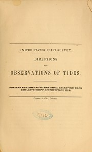 Directions for observations of tides... PDF