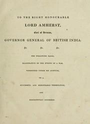 Documents illustrative of the Burmese war