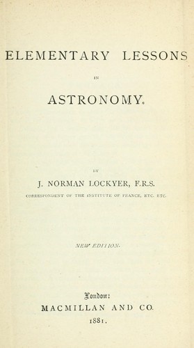 Download Elementary lessons in astronomy