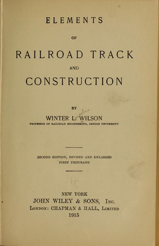Download Elements of railroad track and construction