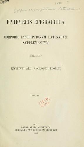 Ephemeris Epigraphica