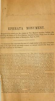 Ephrata monument.