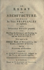 An essay on architecture