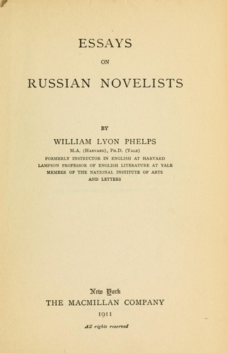 Download Essays on Russian novelists.