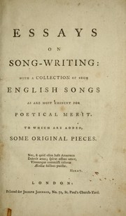 Essays on song-writing PDF