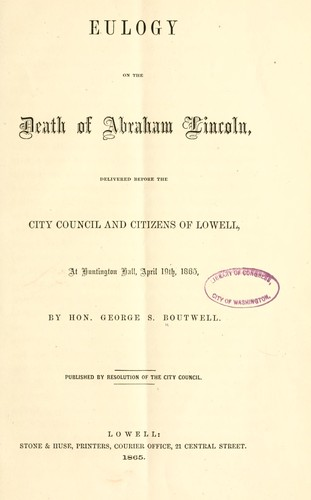Download Eulogy on the death of Abraham Lincoln
