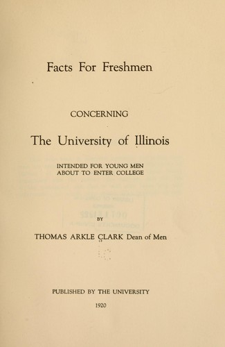 Download Facts for freshmen concerning the University of Illinois