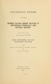 Fish poisoning in the Hawaiian Islands by John F. G. Stokes