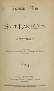 Gazeteer [sic] of Utah and Salt Lake City directory, 1874 PDF