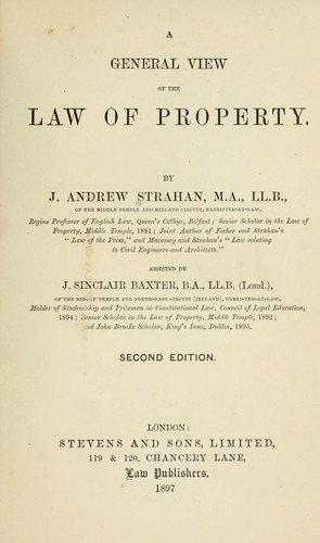 A general view of the law of property.
