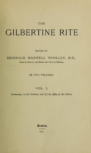 Download The Gilbertine rite