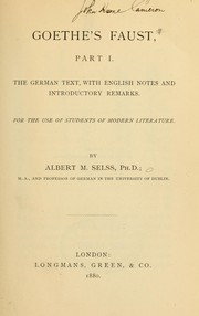 Goethe's Faust, part I. PDF
