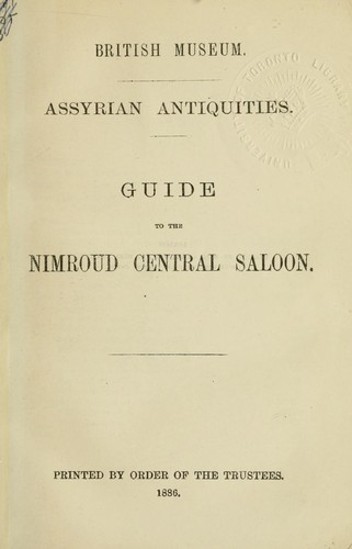 Guide to the Nimroud central saloon