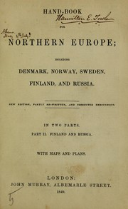 Cover of: Hand-book for Northern Europe; including Denmark, Norway, Sweden, Finland, and Russia by