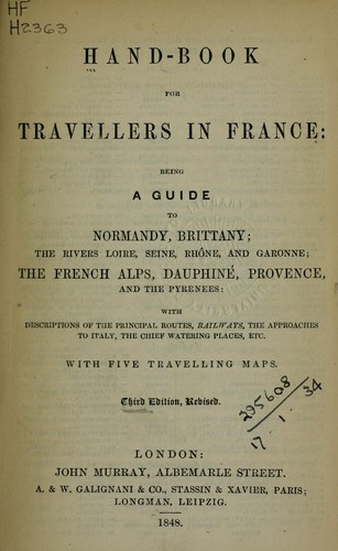 Hand-book for travellers in France by