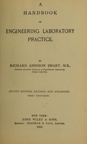 A handbook of engineering laboratory practice.