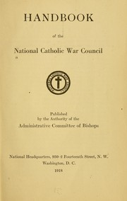 Cover of: Handbook of the National Catholic war council by National Catholic War Council (U.S.)