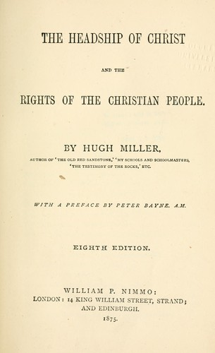 Download The headship of Christ and the rights of the Christian people