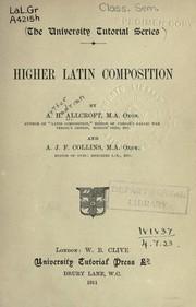 Higher Latin composition PDF