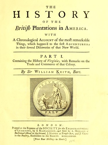 Download The history of the British plantations in America.