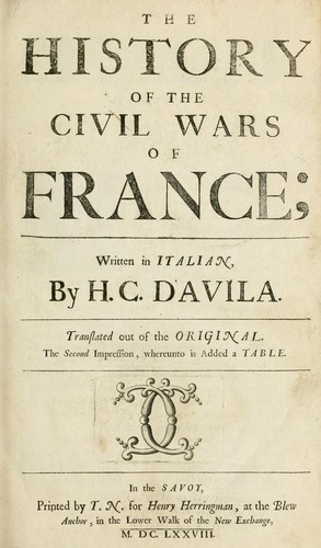 Download The history of the civil wars of France