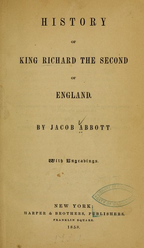 Download History of King Richard the Second of England