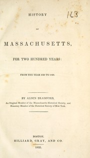 History of Massachusetts, for two hundred years PDF