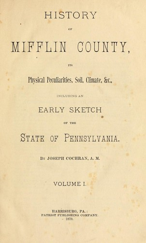 History of Mifflin County