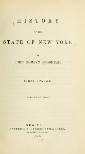 History of the state of New York