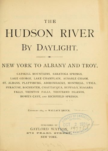 The Hudson river by daylight.
