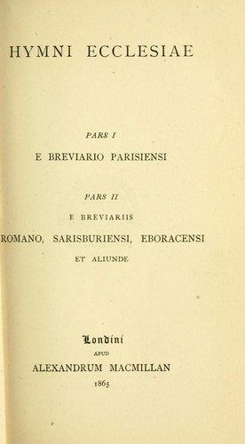 Download Hymni ecclesiae