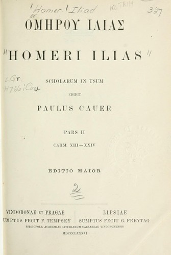 Ilias by Homer