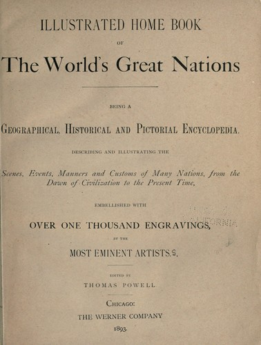 Illustrated home book of the world's great nations.