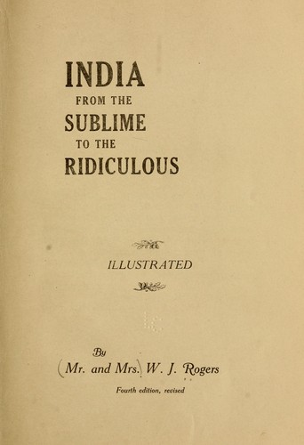 Download India from the sublime to the ridiculous…