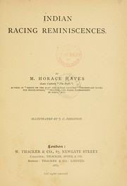 Indian racing reminiscences PDF