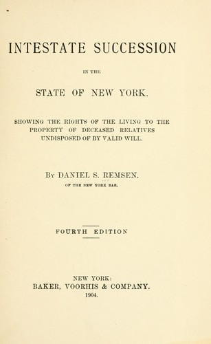 Download Intestate succession in the state of New York
