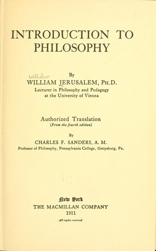 Download Introduction to philosophy