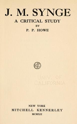 J. M. Synge, a critical study
