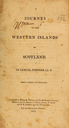 Download A journey to the Western Islands of Scotland.