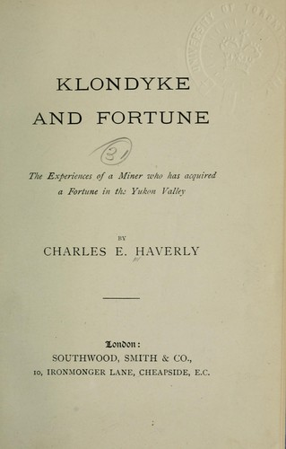 Klondyke and fortune