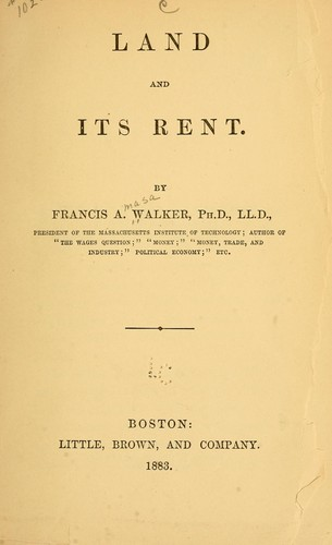 Land and its rent.