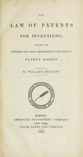 Download The law of patents for inventions