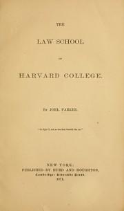 The Law School of Harvard College PDF