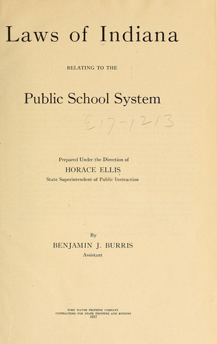 Download Laws of Indiana relating to the public school system.