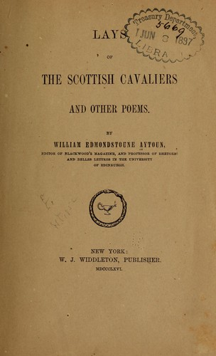 Lays of the Scottish cavaliers, and other poems.