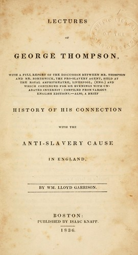 Lectures of George Thompson