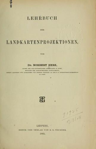 Lehrbuch der Landkartenprojektionen