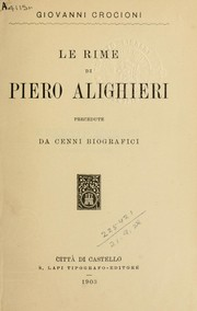 Le rime by Pietro Alighieri
