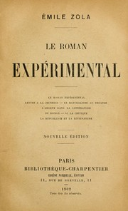 Le roman exprimental by mile Zola